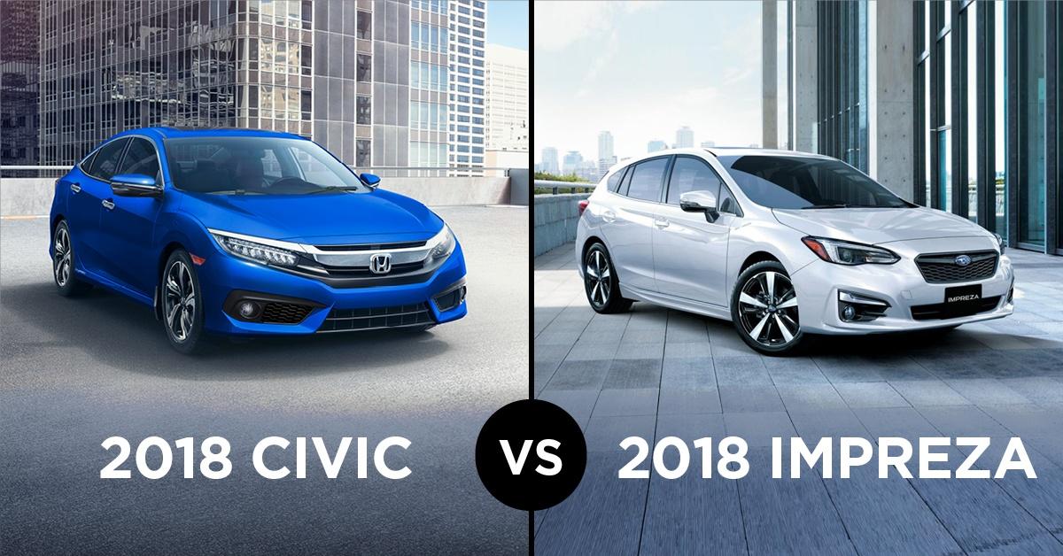 2018 Honda Civic or 2018 Subaru Impreza: Which is Better